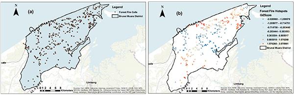 Forest Fire Risk Assessment Using Hotspot Analysis in GIS
